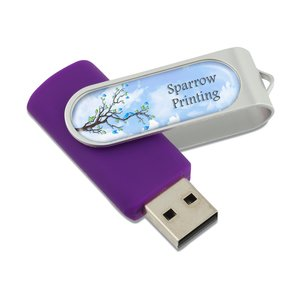 Swing USB Drive - 1GB - Full Color - 3 Day Image 1 of 2