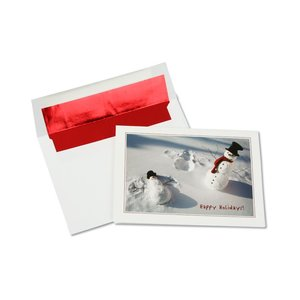 Playful Snow Angel Snowman Greeting Card