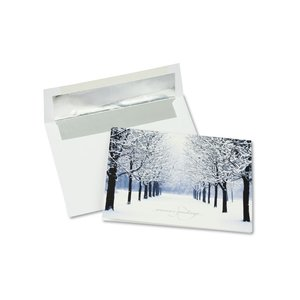 Winter's Path Greeting Card