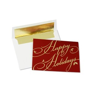 Golden Holiday Greeting Card Image 3 of 3