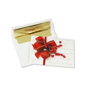 Red Ornament Greeting Card Image 3 of 3