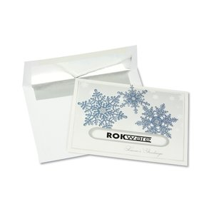 Snowflake Die-Cut Greeting Card Image 2 of 3