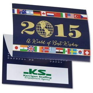 World of Best Wishes Calendar Greeting Card