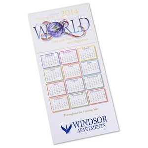 World Filled with Peace Calendar Greeting Card Image 1 of 2