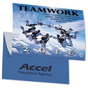 Teamwork Calendar Greeting Card Image 1 of 3