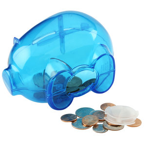 Action Piggy Bank - Translucent Image 1 of 2