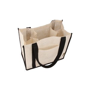 Jute Non-woven Renew Compartment Tote - Closeout Image 1 of 2