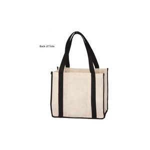 Jute Non-woven Renew Compartment Tote - Closeout Image 2 of 2