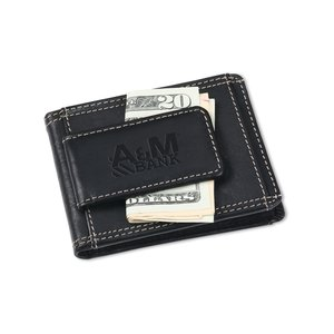 Leather Wallet w/Money Clip Image 4 of 4