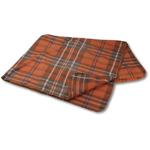 Galloway Travel Blanket – Rust Plaid Image 1 of 3