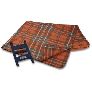 Galloway Travel Blanket – Rust Plaid Image 2 of 3
