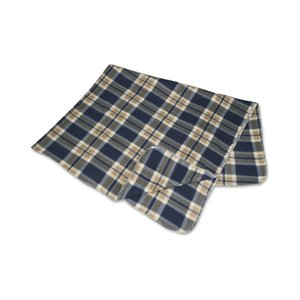 Galloway Travel Blanket – Blue/Cream Plaid Image 1 of 3