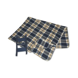 Galloway Travel Blanket – Blue/Cream Plaid Image 2 of 3