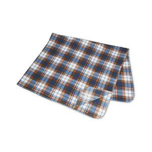 Galloway Travel Blanket – Blue/Rust Plaid Image 1 of 3