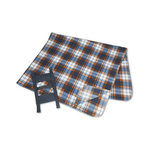 Galloway Travel Blanket – Blue/Rust Plaid Image 2 of 3