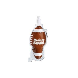 HydroPouch Collapsible Bottle-16 oz.-Football-Overstock Image 1 of 4