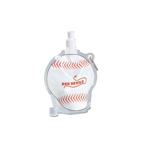 HydroPouch Collapsible Bottle-24 oz.- Baseball-Overstock Image 1 of 4