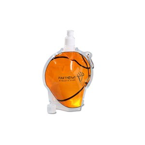 HydroPouch Collapsible Bottle-24 oz.-Basketball-Overstock Image 4 of 4