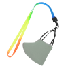 """View Extra Image 2 of 2 of Tie-Dye Multicolor Lanyard - 1/2"""" - Metal Lobster Claw"""