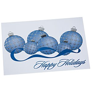 Blue & Silver Ornaments Greeting Card Image 2 of 4