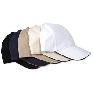 Bayside USA Made Structured Brush Twill Sandwich Cap Image 1 of 2