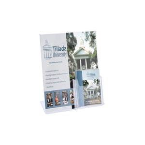 Sign Holder with Brochure Pocket - 8-1/2