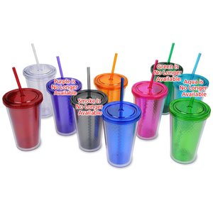 Freedom Facet Tumbler with Straw - 16 oz. Image 1 of 1