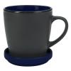 View Extra Image 1 of 1 of Double-up Mug with Coaster - Black - 12 oz.