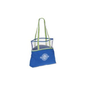 Color Band Mesh Top Tote Image 3 of 3