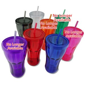 Fountain Soda Tumbler with Straw - 24 oz. Image 1 of 2