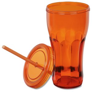 Fountain Soda Tumbler with Straw - 24 oz. Image 2 of 2