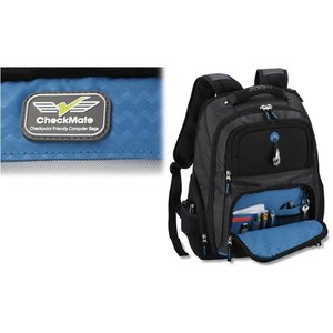Zoom Checkpoint-Friendly Laptop Backpack - Emb Image 1 of 5