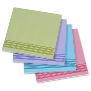 Bic Sticky Note - Designer - 3x3 - Stripes - 25 Sheet
