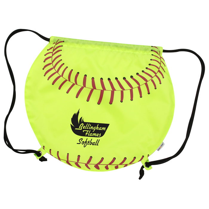 Time Softball Drawstring Backpack