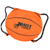 Game Time! Basketball Drawstring Backpack - 24 hr Image 1 of 2
