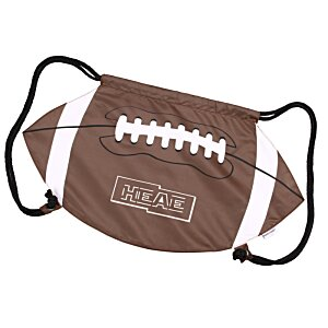 Game Time! Football Drawstring Backpack - 24 hr