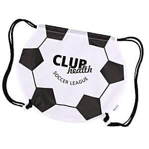 Game Time! Soccer Ball Drawstring Backpack - 24 hr Image 1 of 2
