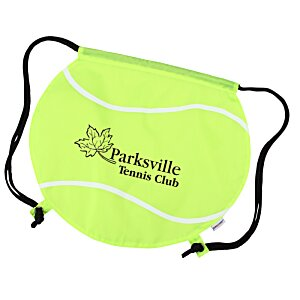 Game Time! Tennis Ball Drawstring Backpack - 24 hr