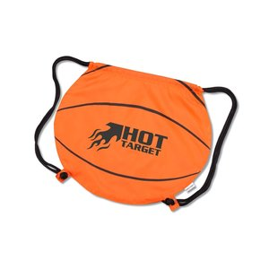 Game Time! Basketball Drawstring Backpack-Overstock Image 1 of 2