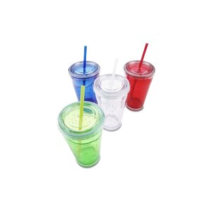 Cool Gear Chiller Tumbler w/Straw - 20 oz. Image 2 of 2