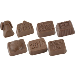 Molded Chocolate Squares - 8 Pieces
