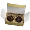View Image 4 of 4 of Truffles - 2 Pieces - Gold Box