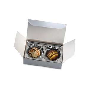 Truffles - 2 Pieces - Silver Box Image 1 of 6