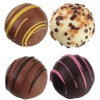 View Image 2 of 2 of Truffles & Chocolate Bar - 8 Pieces - Full Color
