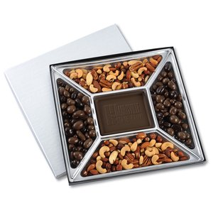 Treat Mix - 1.25 lbs. - Silver Box - Milk Chocolate Bar Image 1 of 6