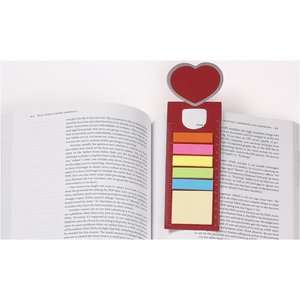 Bookmark Ruler w/Note and Flag Set - Heart Image 1 of 2