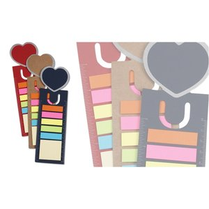 Bookmark Ruler w/Note and Flag Set - Heart Image 2 of 2