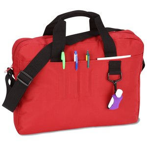 Slim Organizer Brief Bag - Embroidered Image 1 of 1