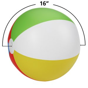 "16"" Beach Ball - Multicolor - 24 hr"