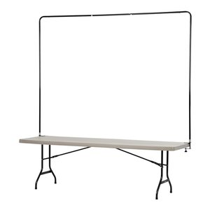 Tabletop Banner System w/Back Wall - 8'